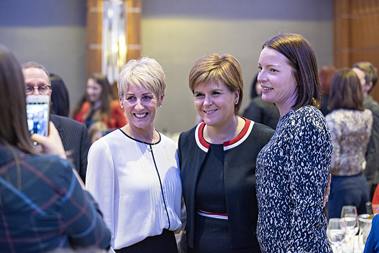 First Minister Nicola Sturgeon with Edinburgh Chamber of Commerce members