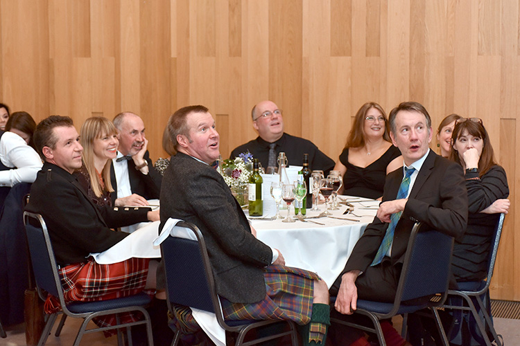 Grassmarket Community Project Burns Supper event photography, Jonny Kinross and guests