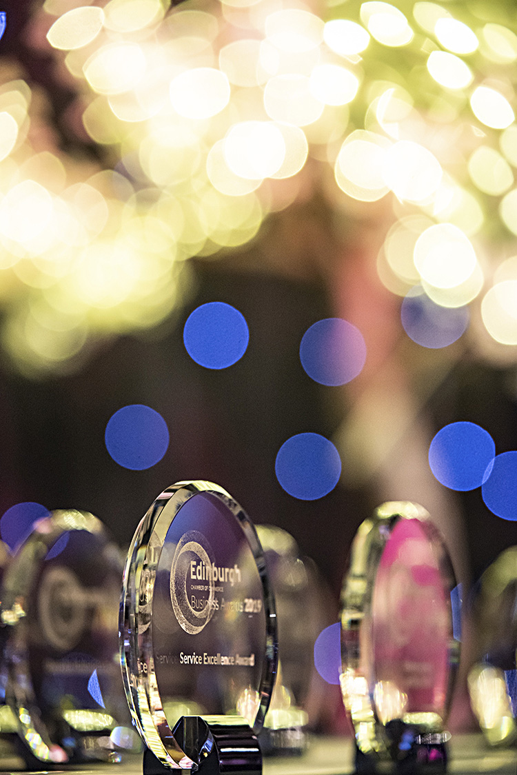 Edinburgh Chamber of Commerce Awards 2019, event photography at EICC
