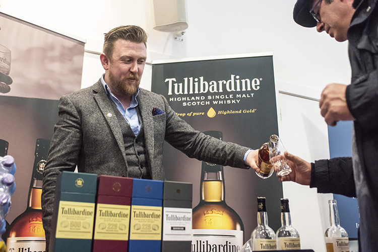ullibardine whisky bottles, Edinburgh Whisky Stramash 2019 event photographs
