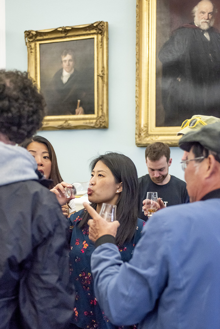 women enjoying whisky tasting, Edinburgh Whisky Stramash 2019 event photographs