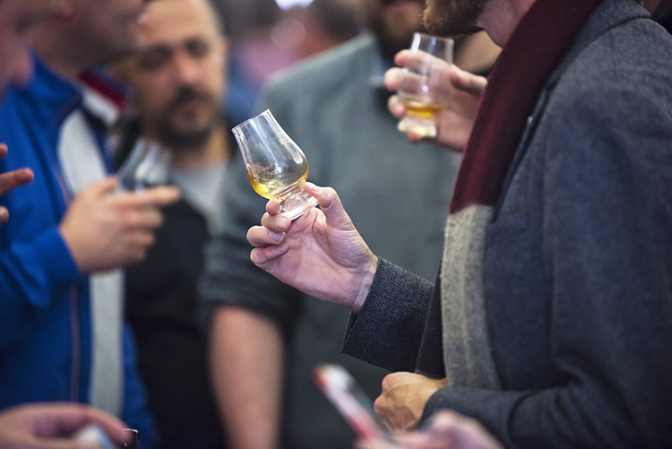 Glencairn whisky glasses at the Edinburgh Whisky Stramash 2019