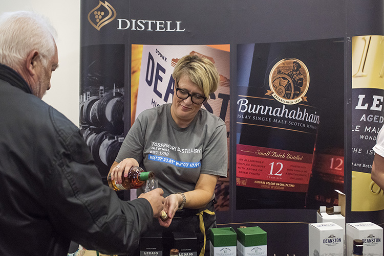 Distell whisky festival tasting, Edinburgh Whisky Stramash 2019
