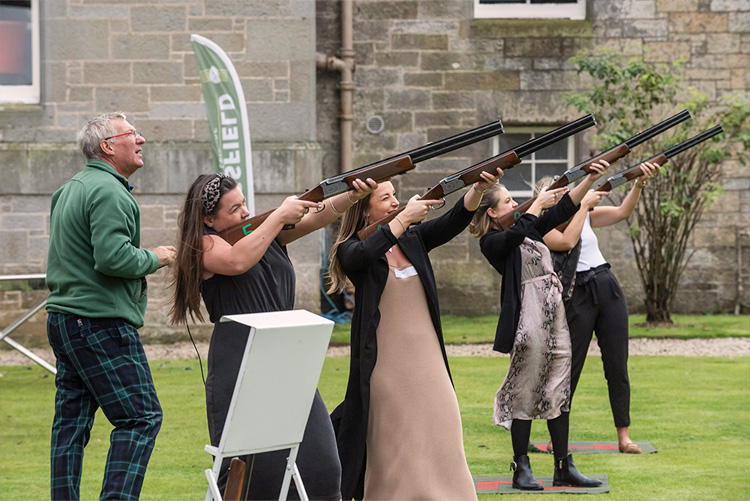 clay shooting, Event photography at Carlowrie Castle