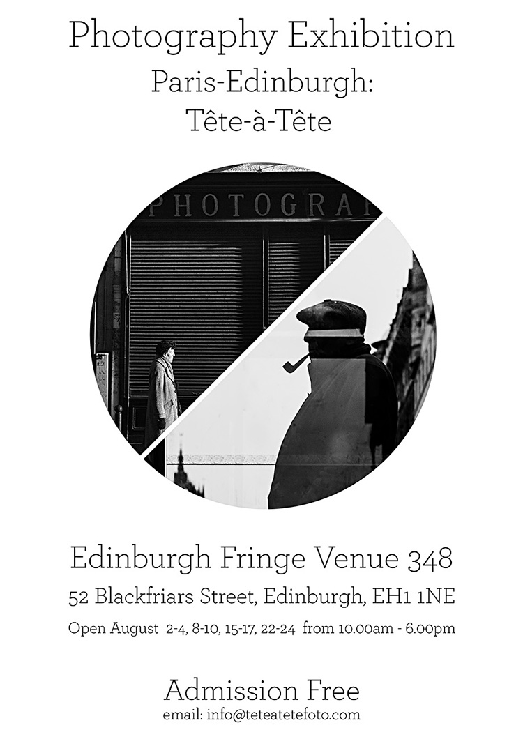 Photography Exhibition Poster, Edinburgh Fringe Exhibition 2019