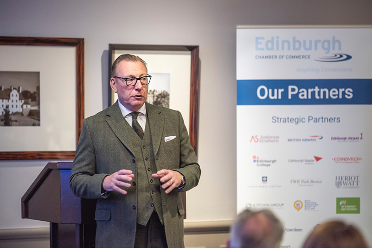 event photography. Benny Higgins, strategic adviser to the First Minister on the establishment of the Scottish National Investment Bank (SNIB) at the MacDonald Holyrood Hotel, Edinburgh