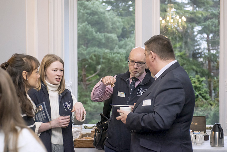 Edinburgh Chamber members at Edinburgh Zoo's Mansion House. event photography at edinburgh zoo.