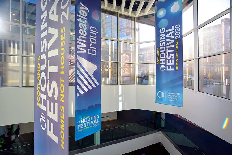 Edinburgh International Conference Centre interior, Wheatley Group signage, event photography in edinburgh