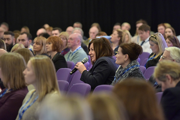 Q&A at the Chartered Institute of Housing Festival 2020 at the EICC. Event photography at the EICC.