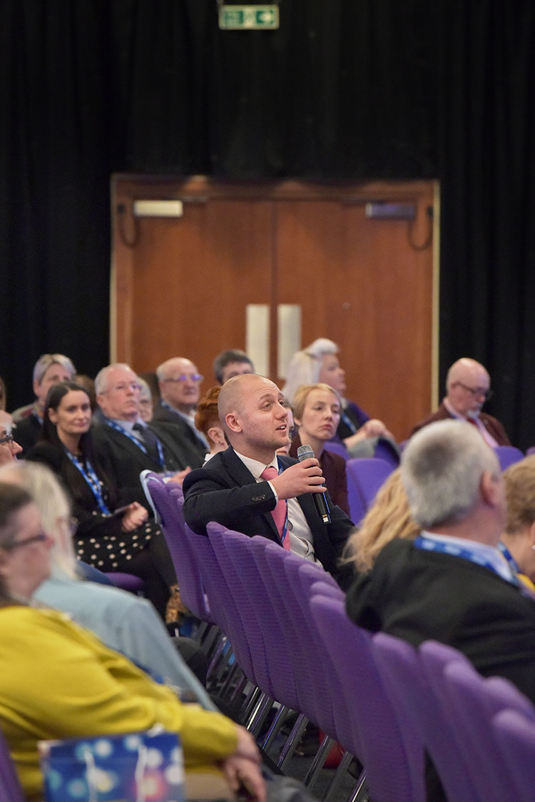 Callum Chomczuk at the Chartered Institute of Housing Festival 2020 at the EICC. Event photography at the EICC.