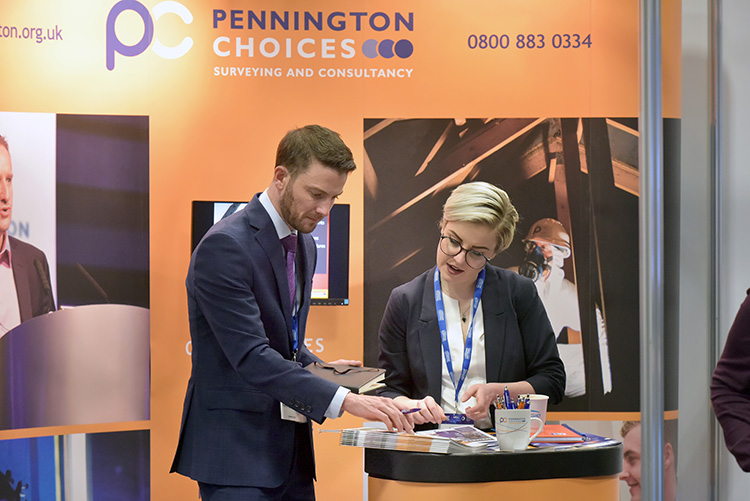 exhibitors stands, the Chartered Institute of Housing Festival 2020 at the EICC. Event photography at the EICC.