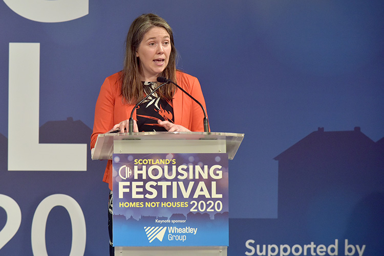 Aileen Campbell MSP, at the CIH Housing Festival at the EICC