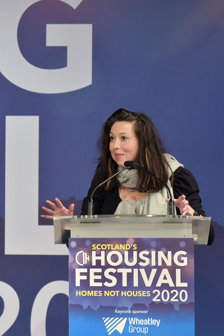 Cash Carraway, author at the Chartered Institute of Housing Festival.