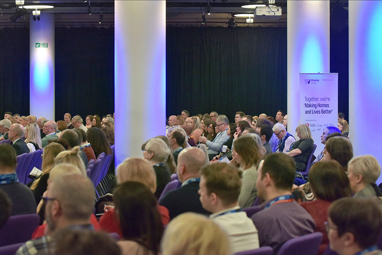 attendees I the Cromdale Hall. the Chartered Institute of Housing Festival 2020 at the EICC. Event photography at the EICC.