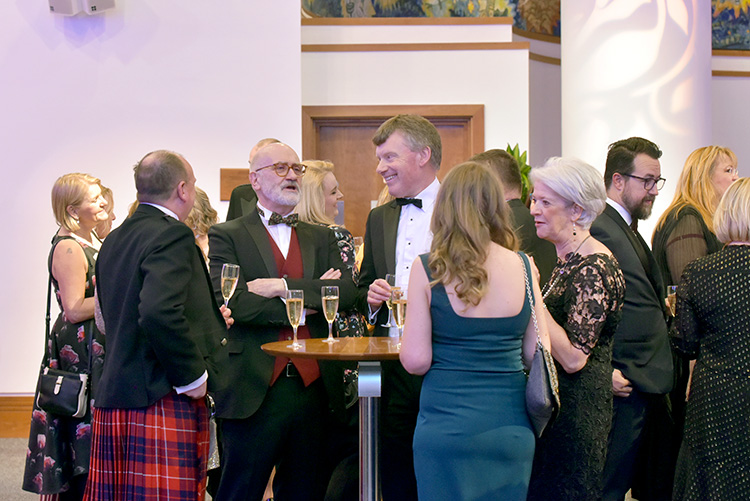 Edinburgh Chamber of Commerce members in Strathblane Hall, Edinburgh Chamber of Commerce Business Awards 2020, event photography at EICC
