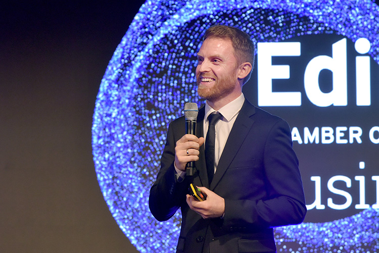 Emil Kristoffer Lie, Director of Talent Solutions Europe for LinkedIn, Edinburgh Chamber of Commerce Business Awards 2020