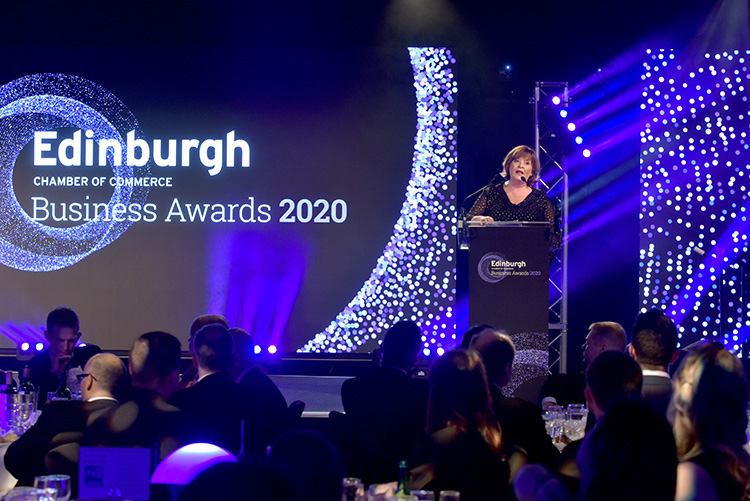 Fiona Hyslop MSP, Cabinet Secretary for Economy, Fair Work and Culture, Edinburgh Chamber of Commerce Business Awards 2020