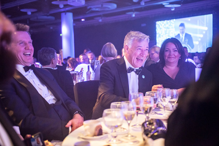 Hibs owner Ron Gordon at Edinburgh Chamber of Commerce Business Awards 2020