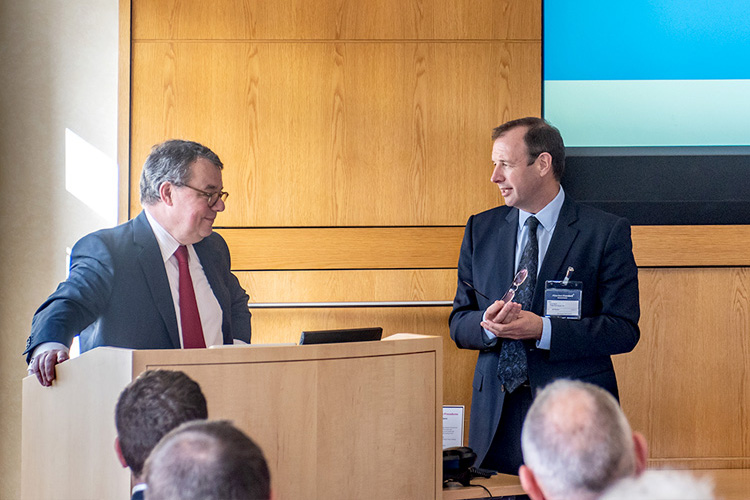 Keith Skeoch CEO Standard Life Aberdeen with Scott Black; Edinburgh Chamber of Commerce; event photography in edinburgh
