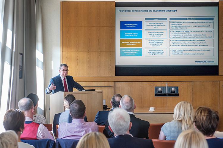 Keith Skeoch CEO Standard Life Aberdeen in Edinburgh Office; event photography in edinburgh