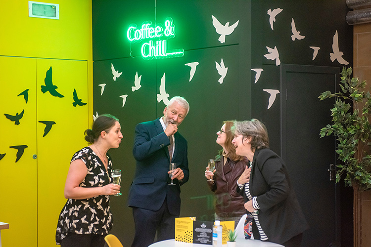 coffee saints cafe launch night, event photography in edinburgh